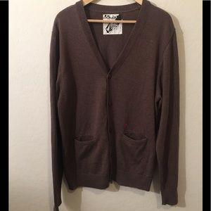 Brown Volcom Varsity Sweater Size Large